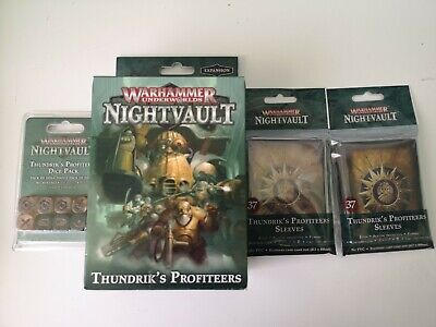 Thundrik's Profiteers Plus Oop Dice And Sleeves X 2 Warhammer Underworlds • 6.41£