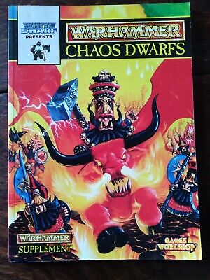 Chaos Dwarfs Warhammer Armies Games Workshop Rule Book Dwarves Rulebook • 89£