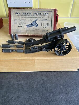 Britains Heavy Howitzer No.2. Boxed With Ammunition And Loader • 89.99£