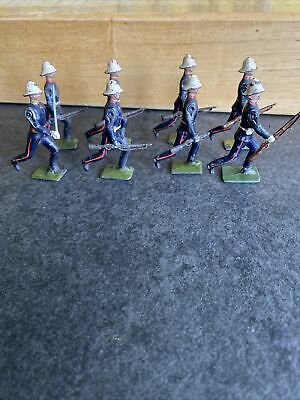 8-Figure Britains Royal Marines Lead Soldiers Marching Running At Trail • 24.99£