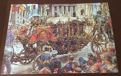 Vintage Victory Wooden Jigsaw Puzzle. Coronation Carriage - Scarce Rare • 10.99£
