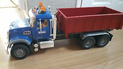 Bruder Mack Granite Truck With Roll Off Container And Light Module • 40£