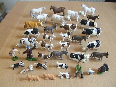 Vintage Britains & Herald Farm Animals & Figures Lot • 34£