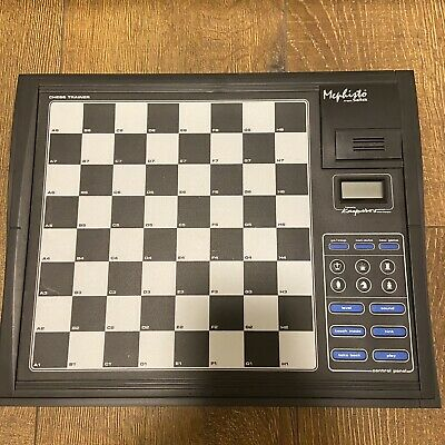 Mephisto Electronic Computer Chess Trainer By Saitek Not COMPLETE - Kasparov • 24.09£