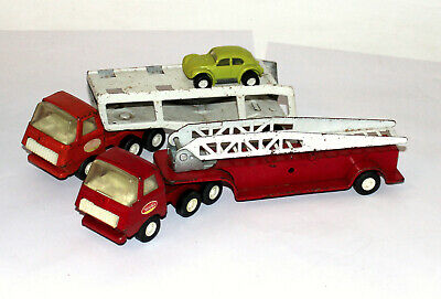 Vintage 1970's Tonka Car Transporter And Fire Truck • 10£