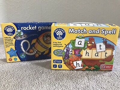 Orchard Toys Bundle Match & Spell & Rocket Game • 4.99£