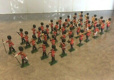 Rare Britains Herald 1/32 Scale Eyes Right 42 Piece Band Of The Scots Guards • 125£