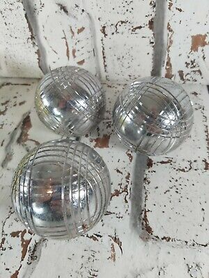 Vintage Obut 3x Boules Petanque Loisir Anticorrosion Chrome French Bowles 610g  • 54.99£
