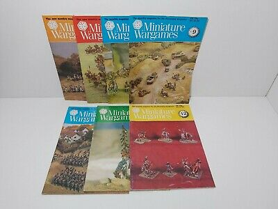 MINIATURE WARGAMES MAGAZINE 7 Issues  • 6.50£