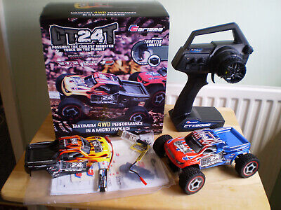 RARE CARISMA 4WD GT24T BRUSHLESS MONSTER TRUCK RTR 2.4ghz W/X2 BODIES+LIPO'S • 159.99£