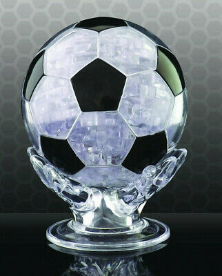 3D Football Crystal Puzzle With 76 Numbered Jigsaw Pieces Brain Teaser NEW Boxed • 8.45£