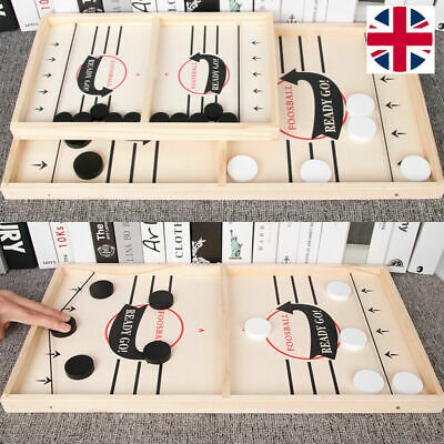 Table Fast Hockey Sling Puck Game Paced Sling Puck Winner Party Game Fun Toys UK • 11.45£