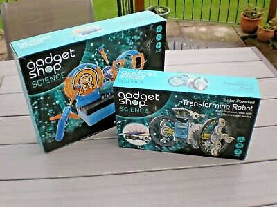 Gadget Shop Science Transforming Robot & Target Strike Boxed • 13.99£