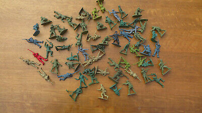 Joblot Vintage Plastic Toy Soldiers Army Military Various Colours And Positions • 3£