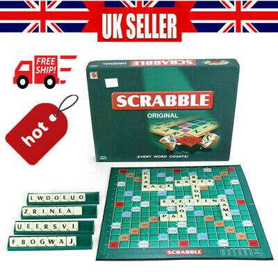Original Scrabble Board Game Family Kids Adults Educational Toys Puzzle Game • 7.46£