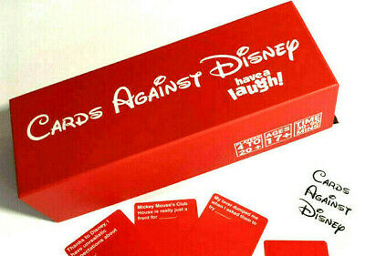 RED Cards Against Disney 828 Card Games Adult Party Game Your Childhood GAME UK • 19.90£