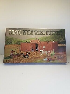 Rare Timpo Toys 257 Wild West Outpost Cowboys & Indians Fort Set Boxed Very Rare • 190£