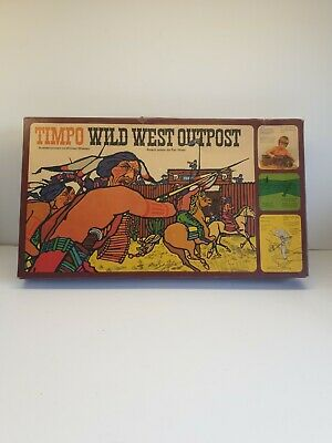 Rare Timpo Toys 257 Wild West Outpost Cowboys & Indians Fort Set Boxed    |37 • 119.99£