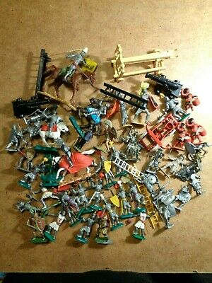 Toy Soldiers Knights Catapult Vintage Job Lot Collection Cherilea Crescent Timpo • 17.36£