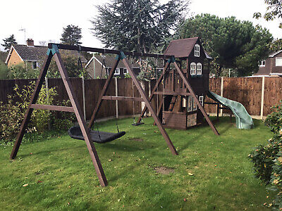 Climbing Frame, Garden Play Fort, Swings, Nest Swing, Slide, Play House, • 500£