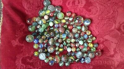 GLASS Marbles Over 1Kg • 5.50£