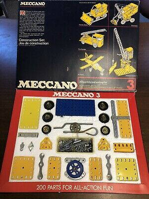 Vintage Meccano Set 3, From 1975, 100% Complete In Original Box With Manuals, • 45£