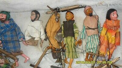 Vintage Wooden String Puppets, Made In England, 80 Years Ago • 50£