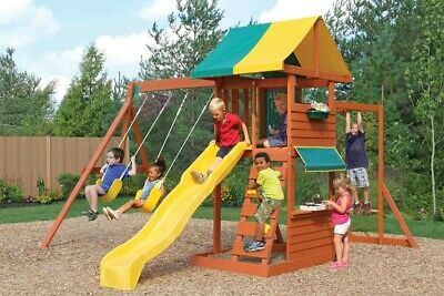 NEW Hazelwood Climbing Frame - Garden Playhouse Children Kids Childs Swing BNIB • 299.99£