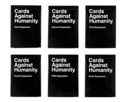 Cards Against Humanity Expansion All 1 - 6 Packs - Expansion 1,2,3,4,5,6 • 32.99£