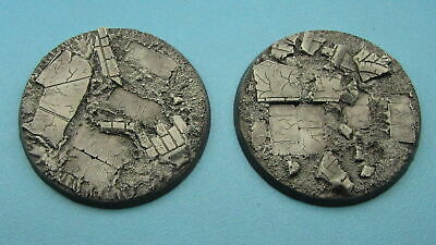 2 X Unpainted 60mm Resin Bases Ruined City Forgeworld Dreadnought Indomitus 40k  • 5£