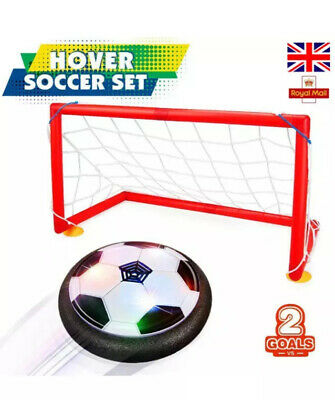 Indoor Air Football Hover Game Boys/Girls Sports Air Ball Game 2 X Goals VGC • 7.99£