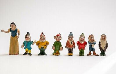 Britains 1654, Hollow Cast, Snow White And The Seven Dwarfs Figures • 65£