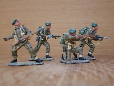 King & Country D Day '44 Commando Attack DD 057 Or DD 57 Set Of 4 Soldiers • 199£