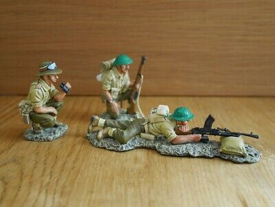 King & Country Bren Gun Team Eighth Army EA 06 Or EA 6  Set Of Three Soldiers • 169£