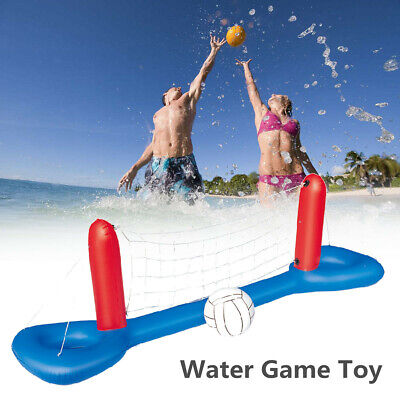 Inflatable Water Volleyball Set Swimming Pool Floating Ball Outdoor Gam • 24.34£