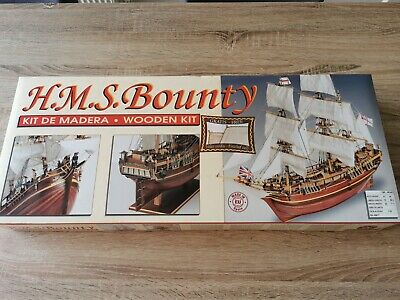 HMS BOUNTY 1:50 Scale Wooden Ship Model Kit + FREE DELIVERY • 89£