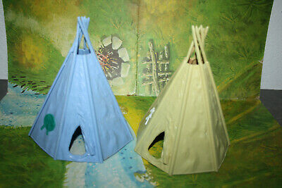 Timpo Toys Wild West 2 Indian Tepees Good Condition • 1£