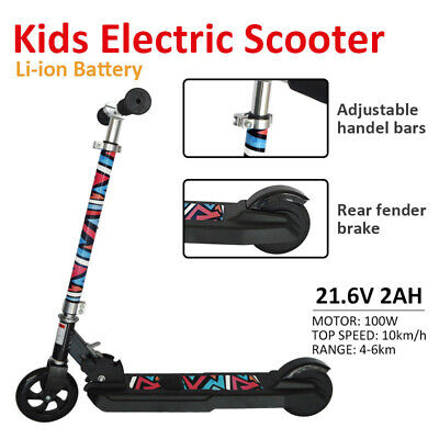 Kids Li-Ion Battery Electric E Scooter Folding Ride On Lithium Children Toy • 92.99£