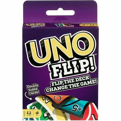 Uno Flip Card Game Mattel Multi Colored Exciting Twists Family Fun Children Pack • 3.99£