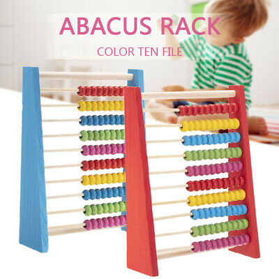 Wooden Beads Abacus Learning Math Counting Kids Children Educational Toy New • 6.69£