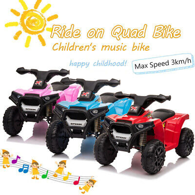 Electric Ride On Quad Bike Car Kids Battery Powered ATV Toddler Children Toy Car • 49.99£