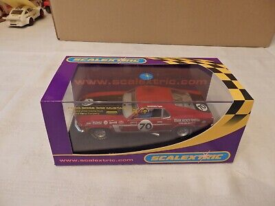 Scalextric Car C.2656 Ford Mustang 1969 Stark Hickey No. 70. BOXED. IMMACULATE. • 19.99£