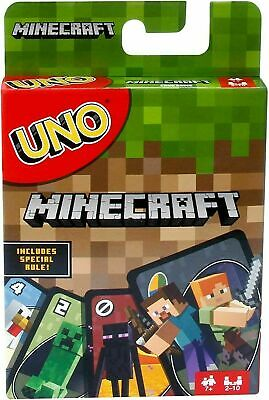 UNO Minecraft Card Game Family Card Fun Games Party Play Toys Adult And Kids • 5.95£