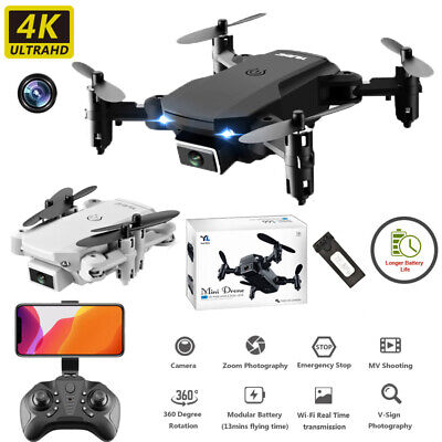 Drone X Pro WIFI FPV 4K HD Wide Angle Camera Foldable Selfie RC Quadcopter Gifts • 21.99£
