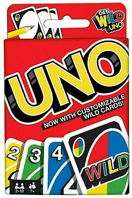 UNO CARD GAME With WILD CARDS Matte Latest Version Family Fun Indoor Party UK • 2.29£