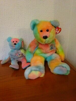 Ty - 'PEACE' - Beanie Buddy AND Beanie Baby  - PERFECT With Original TAGS. • 75£