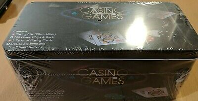 NEW SEALED Tobar 21974 Casino Games - Chips, Cards And Mat Included • 22.95£