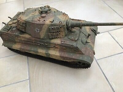 Expertly Built And Air Brushed 1/16 Scale Tamiya King Tiger Tank Static Model • 295£