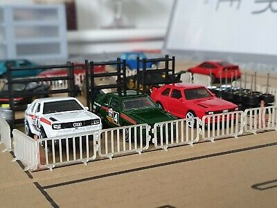 20x 1:64 Fence Barriers Realism & Detail For Your Hot Wheels Matchbox Toy Garage • 6.99£