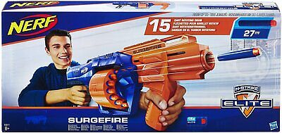 NERF N-Strike Elite SurgeFire Gun Toy Official Soft Dart Blaster Hasbro • 29.95£